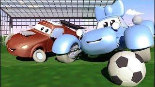 Carl el Super Camión y el Camión Policía en Auto City Louie dibujame un tobogán HALLOWEEN para niño