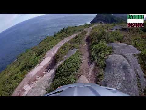 Riding a Bucksaw on Oceanside   Fatbike Riding