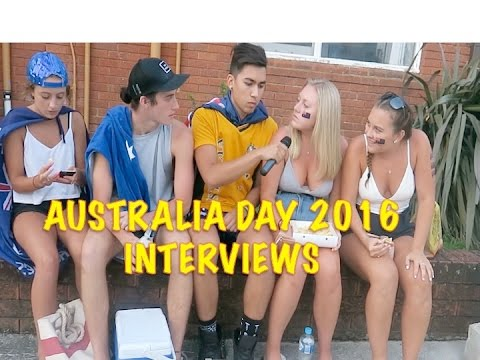 Australia Day 2016 Interviews (JamieZhu)