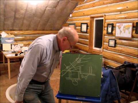 How to build log gables on a log cabin youtube for How to build a butt and pass log cabin