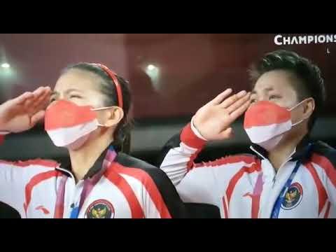 Momen Greysia Polii U0026 Apriani Rahayu Menyanyikan Lagu Indonesia Raya Di Olimpiade Tokyo 2020