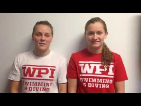 WPI Swimming & Diving Post-Meet Interview - Emily Martin and Jenny Day