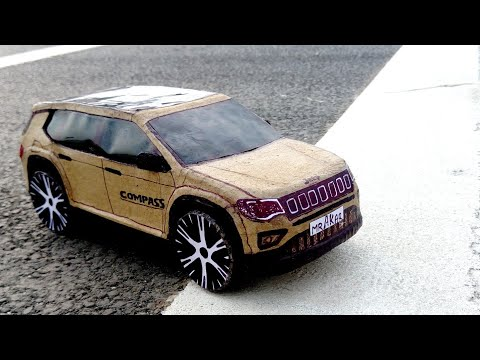 How To Make A RC Car | RC Jeep Compass | DIY Cardboard Card Craft For