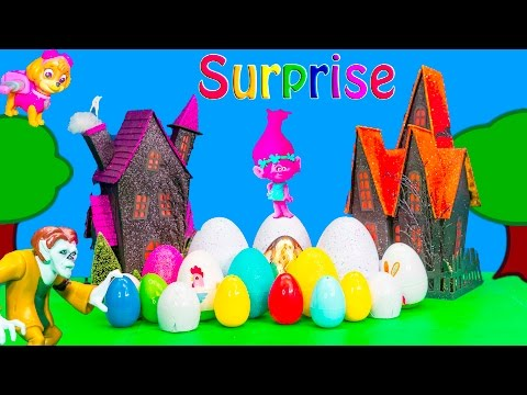 SURPRISE Nickelodeon Paw Patrol and PJ Masks Surprise Eggs Funny Trolls Surprise Eggs and Toys