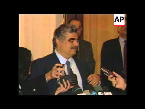 LEBANON: BEIRUT: BRITISH FOREIGN SECRETARY ROBIN COOK VISIT