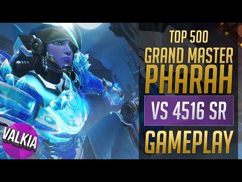 Grand Master Pharah [Top 500] vs 4516 SR    Valkia