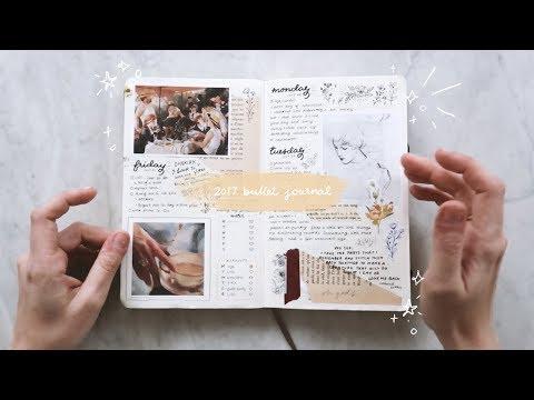 my 2017 bullet journal flip-through // cheyenne barton