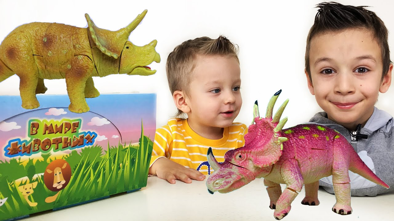 3D Пазлы Динозавры серии В Мире Животных Видео для Детей Развивающее Видео Игрушки Динозавры