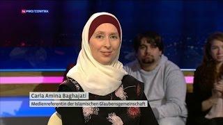 Carla Amina Baghajati und Jürgen Todenhöfer - Puls 4 Pro / Contra
