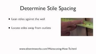 3 Wainscoting Determine Stile Spacing