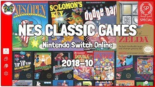 NES CLASSIC GAMES on Switch: October 2018 ⋆ Nintendo Switch Online ⊷ #gon_Plays