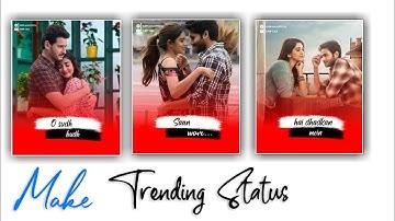 How To Make Trending Lyrical Status video | New Effect Status Video Edit | kinemaster Status Editing