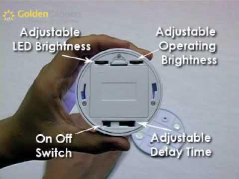 Auto Led Lampen : Goldengadgets pir auto sensor led lamp youtube