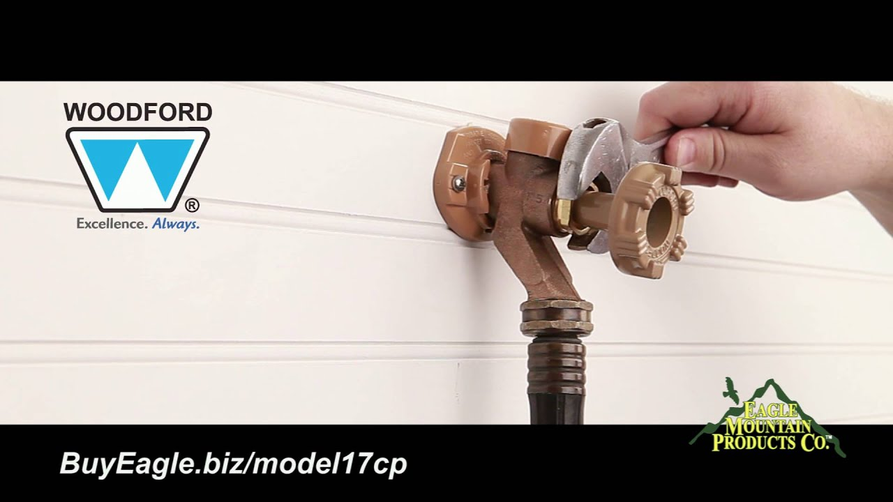 Woodford Model 17 Outdoor Water Faucet Installation - YouTube