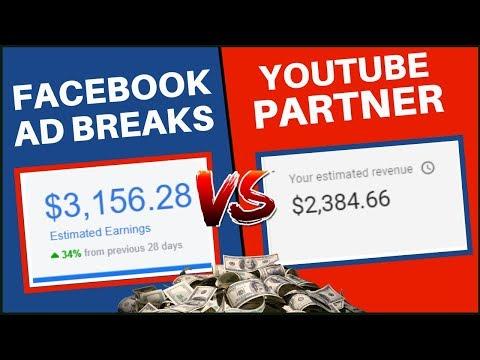 Facebook Ad Breaks VS YouTube Partner Program | Make Money Online