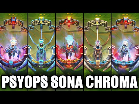 All PsyOps Sona Chroma Skins Spotlight (League of Legends)
