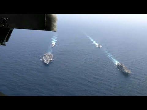 شاهد: سفن حربية أميركية تنفذ تدريبات عسكرية في بحر العرب …  - نشر قبل 5 ساعة