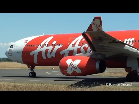 9M-XXP  AirAsiaX (Air Algérie) A330-300 take off 18R at Lyon St Exupéry [LYS/LFLL]