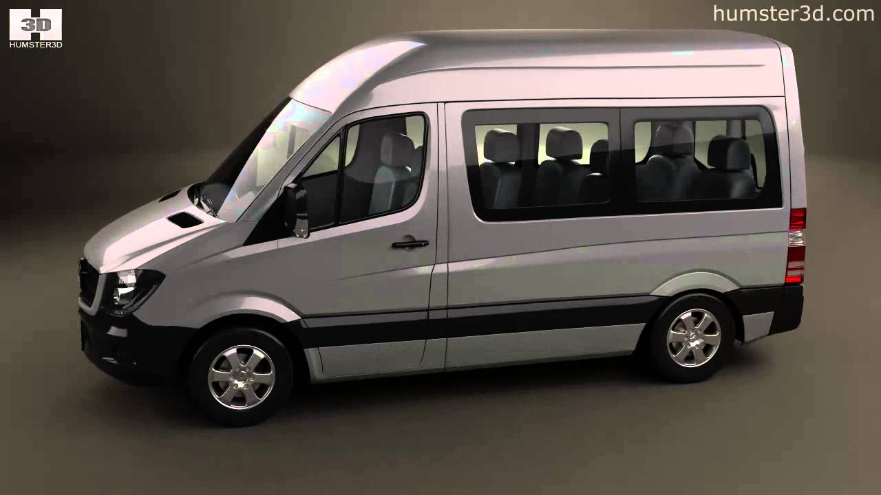 mercedes benz sprinter passenger van cwb hr 2013 by 3d model store youtube. Black Bedroom Furniture Sets. Home Design Ideas