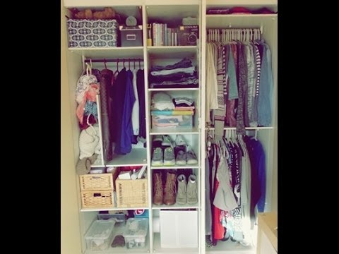Closet tour I Comment j\'organise mes vêtements - YouTube