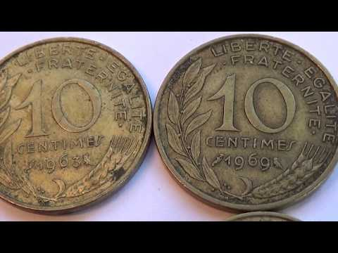 Three 10 Cents & One 5 Cent Francaise Old Coins