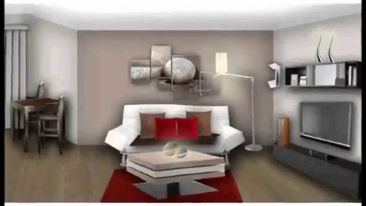 Deco salon moderne 2015 decoration maison moderne youtube - Interieur maison ...