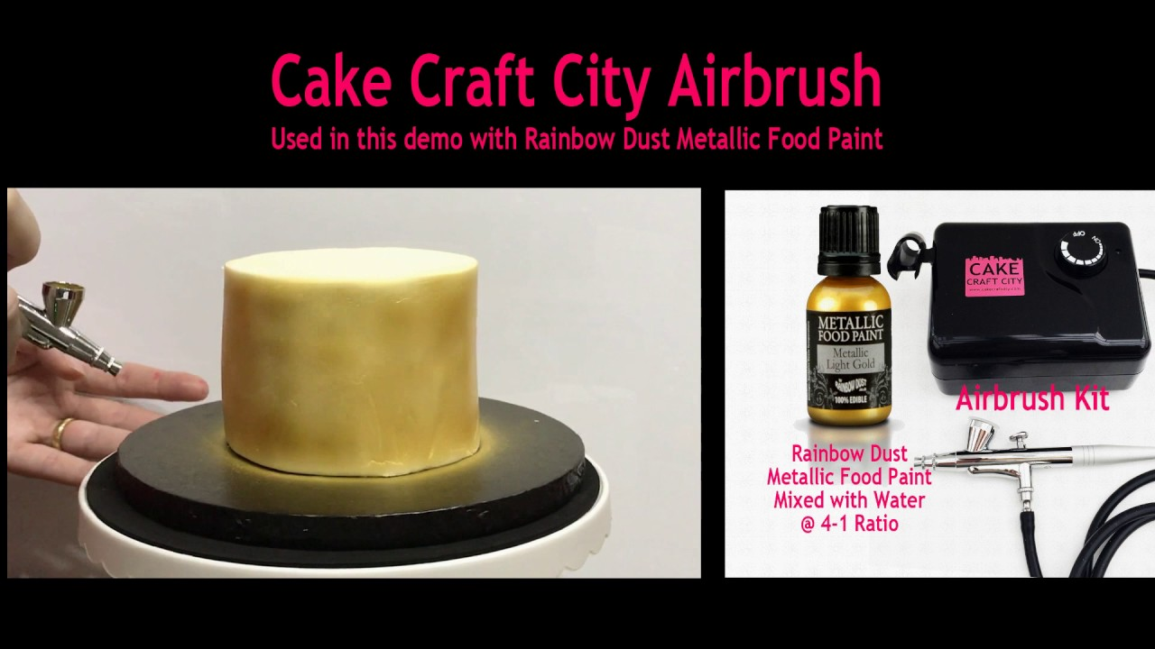 Painting A Cake Gold With Airbrush