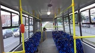 Оновлений 5026 за расшатанным шляхах. Трамвай Петербурга 9-676: ЛОМ-86К б.5026 по №9 (14.07.19)