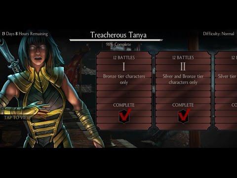 Mortal Kombat X Android Desafio / Challenge Tanya Treacherous Normal