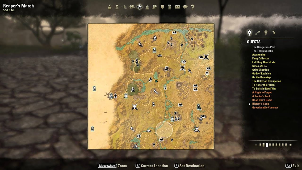 ESO - Amazing addon for all Lorebook and Skyshard locations