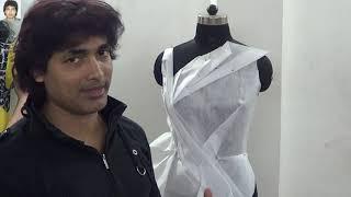 how to make draping design techniques | कपड़े के साथ कोई भी डिजाइन बनाएं, |prasanta kar