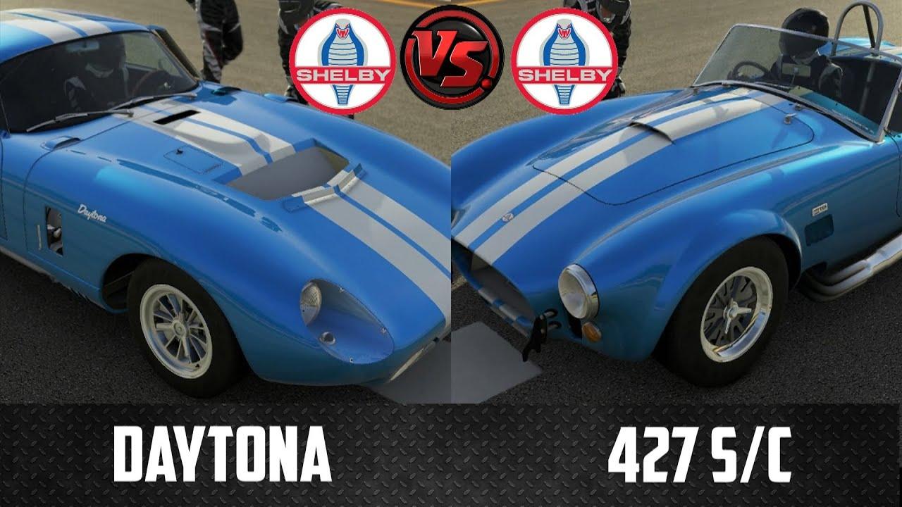 Forza 5  Shelby Cobra Daytona vs Shebly Cobra 427 SC  YouTube