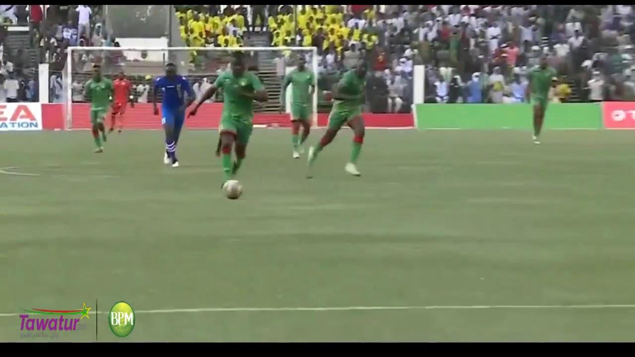 شاهد هدف جيديلي جالو الرائع في الدقيقة الاخيرة  موريتانيا 2 : وسط افريقيا 0