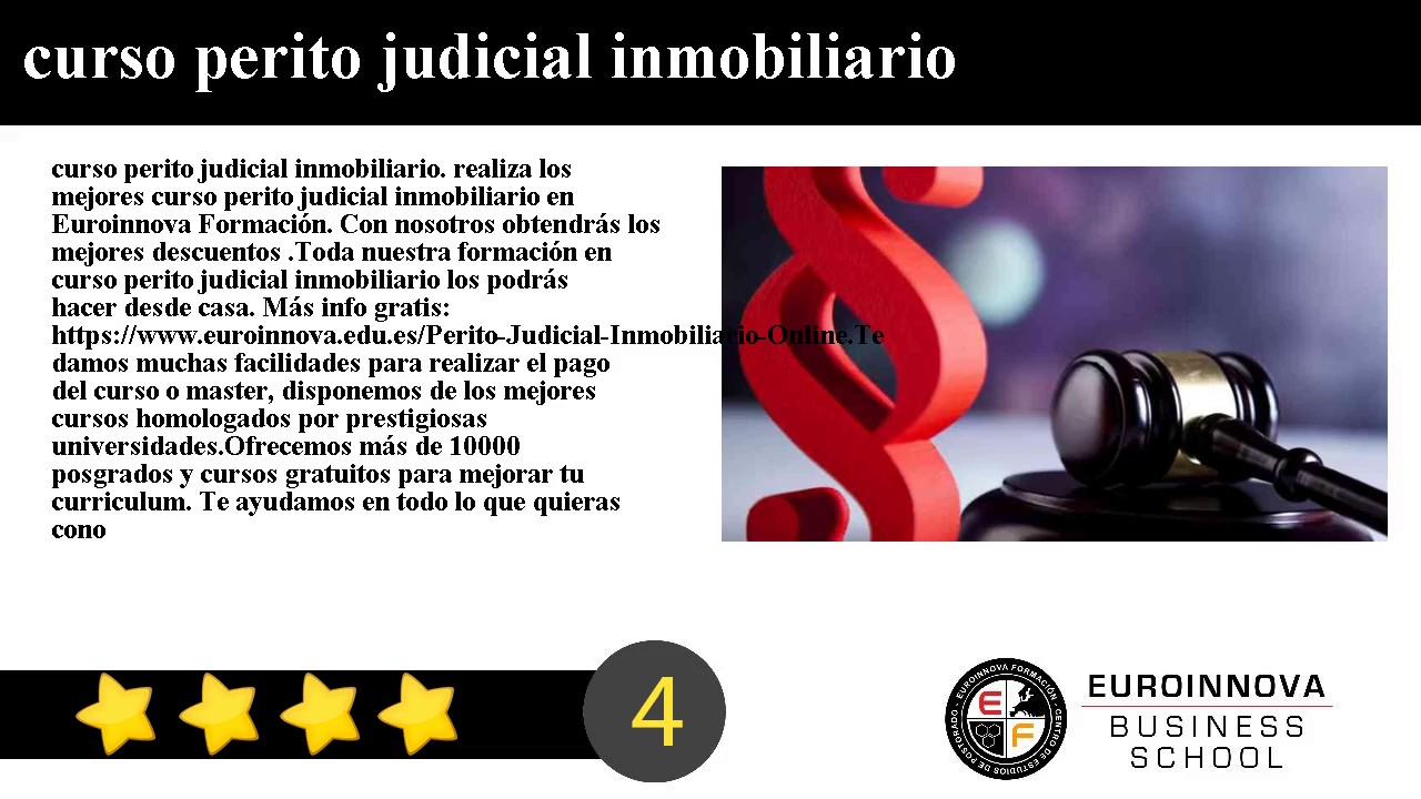 Curso Online Perito judicial inmobiliario Homologado