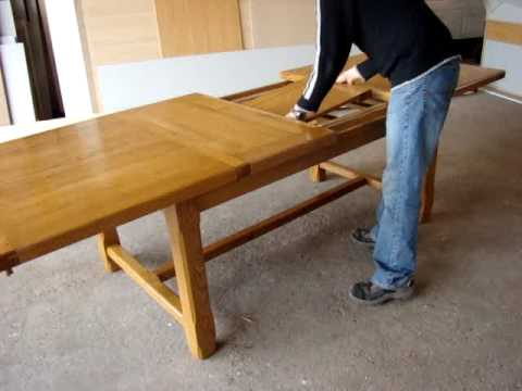 table pliable 14 personnes youtube. Black Bedroom Furniture Sets. Home Design Ideas