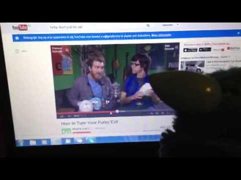Furby watching Rhett & Link