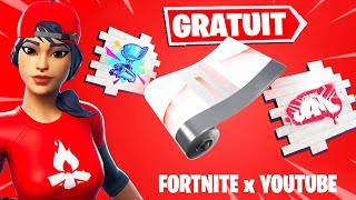 FREE RECOMPENSES FORTNITE X YOUTUBE! HOW TO CONNECT HIS EPIC COMPTE A YOUTUBE ...