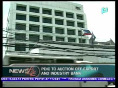 PDIC to auction off export and industry bank