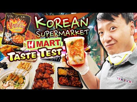 H-MART KOREAN SUPERMARKET Taste Test BEST & WORST Korean Grocery Market Foods