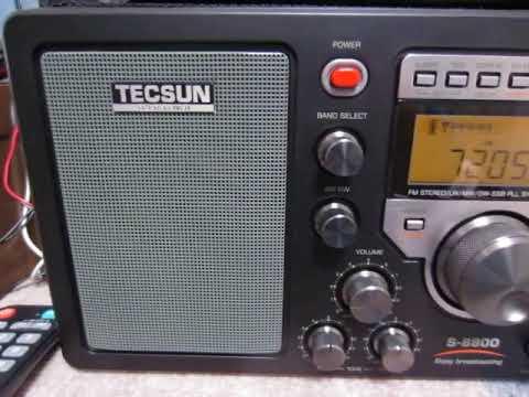 TECSUN S-8800 7205kHz Sudan Radio