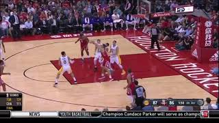 LONZO BALL BLOCKS HARDEN THEN HITS A JUMPER IN HIS FACE!!!