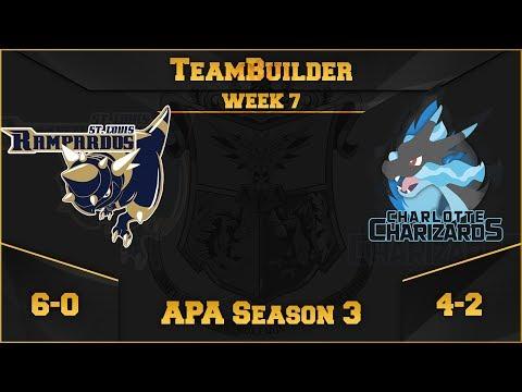St. Louis Rampardos Team Building APA S3 W7: VS Charlotte Charizards | Pokemon Ultra Sun and Moon