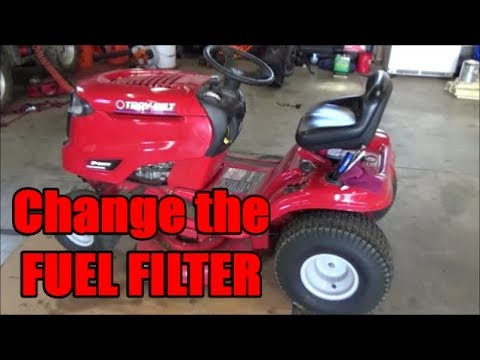 Troy-Bilt Pony | How to Change the Fuel Filter - YouTubeYouTube