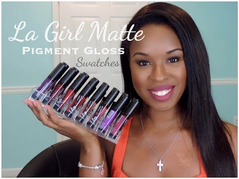 16 LA Girl Matte Pigment Gloss| Swatches| The Painted Lips Project