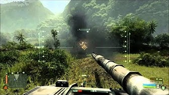 Very Beautiful Tank Battle from Epic FPS Game on PC Crysis 2007