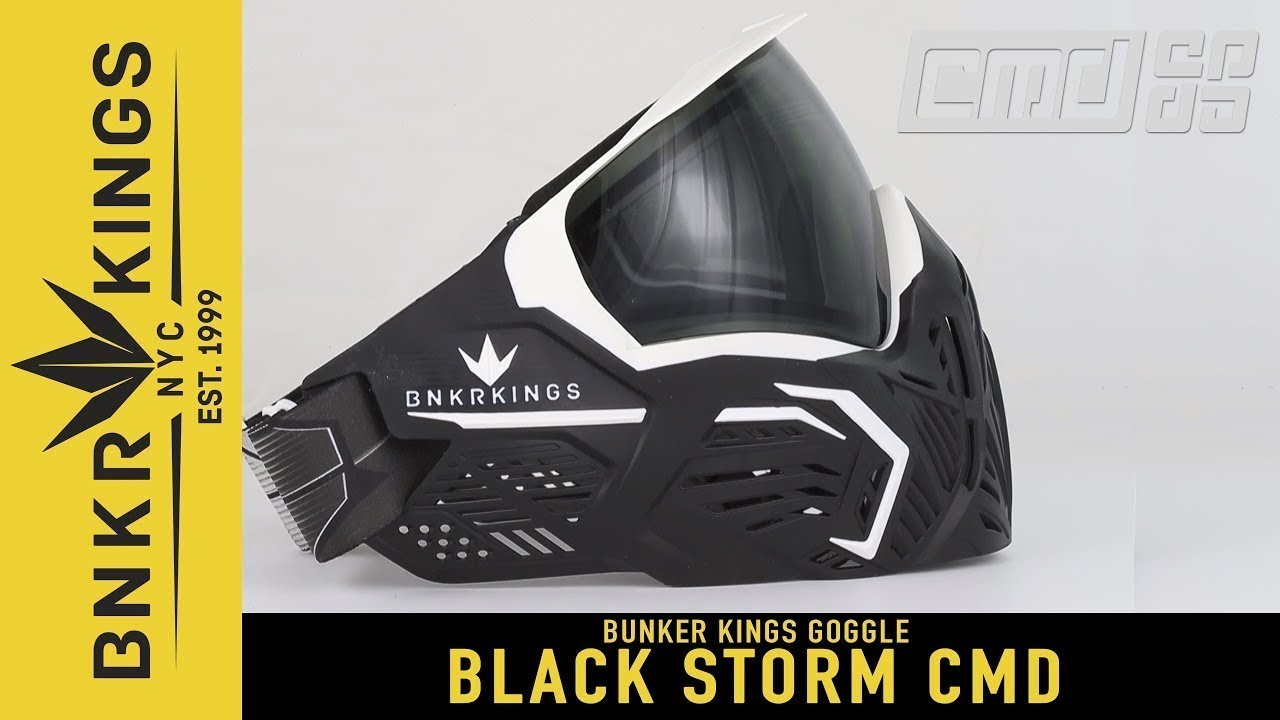 Bunkerkings CMD Paintball Goggle Black Storm Mask