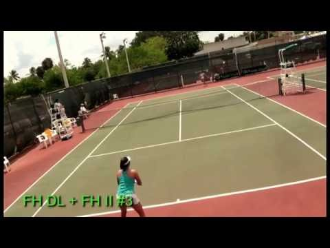 June Lee tennis forehand patterns (at 14 years old)