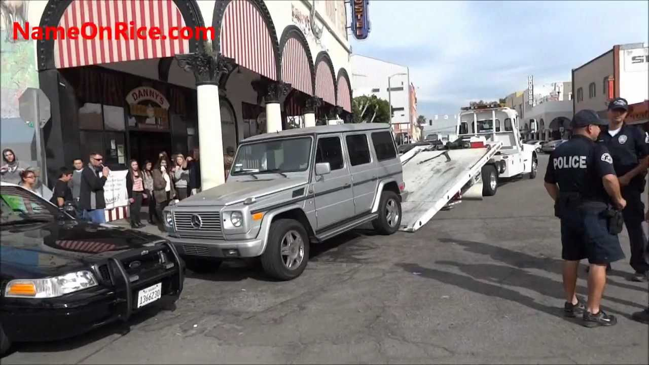 stolen mercedes, police chase from beverly hills to venice beach