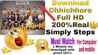how to download chhichhore full movie
