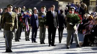 Slavnosti svobody 2016 - hlavní vzpomínkový akt u pomníku G. S. Pattona